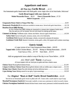 Image of the first page of our menu, linked to the full multi-page PDF version